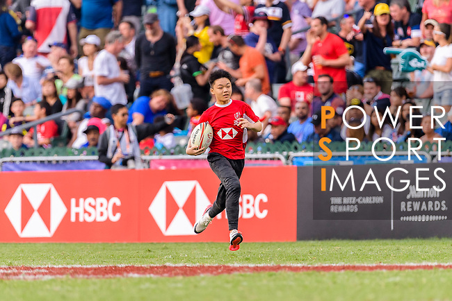 HSBC Ball Carriers during the HSBC Hong Kong Sevens 2018 on April 8, 2018 in Hong Kong, Hong Kong. Photo by Marcio Rodrigo Machado / Power Sport Images