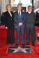 LOS ANGELES, CA. November 06, 2018: Jane Fonda, Michael Douglas &amp; Ron Meyer at the Hollywood Walk of Fame Star Ceremony honoring actor Michael Douglas.<br /> Pictures: Paul Smith/Featureflash