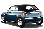 Rear three quarter view of a 2010 Mini Cooper Convertible