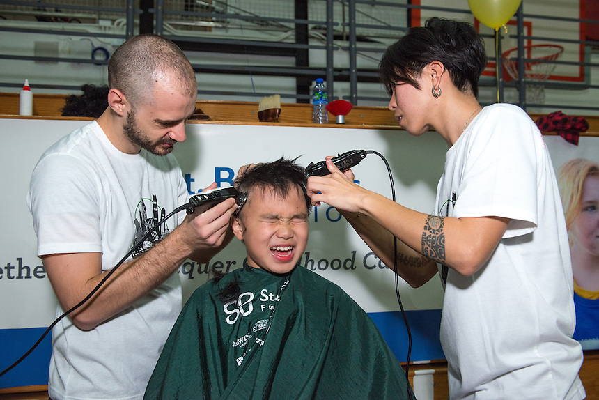 St Baldrick's at Hong Kong International School 2015.2.03.15. 24th March 2015. © Jayne Russell