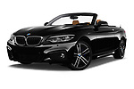 Stock pictures of low aggressive front three quarter view of a 2018 BMW 2 Series M Sport 2 Door Convertible