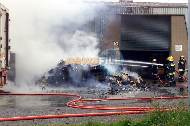 Drogheda Fire Service were called to a fire at the Irish Breeze factory in the Donore Industrial Estate on Sunday Evening 3 appliances from the Station attended the scene...Picture Fran Caffrey Newsfile.