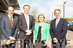 Jan O'Sullivan (Minister of Education  Skills) arrives at Mercy Mounthawk Secondary School on Thursday to be welcomed by John O'Roarke Principal Pat Fleming Vice Principal and Arthur J Spring TD.