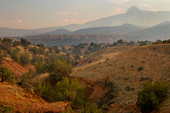 The Rio Chama Valley is clogged with smoke from nearby Alamosa fire. Northern NM
