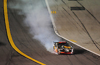 Feb 9, 2008; Daytona, FL, USA; Nascar Sprint Cup Series driver Martin Truex Jr (1) crashes during the Bud Shootout at Daytona International Speedway. Mandatory Credit: Mark J. Rebilas-US PRESSWIRE