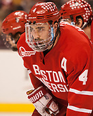 Brandon Hickey (BU - 4) - The Boston University Terriers defeated the Boston College Eagles 3-1 in their opening Beanpot game on Monday, February 6, 2017, at TD Garden in Boston, Massachusetts.