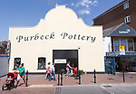 Purbeck Pottery, old historic buildings on quayside at Poole harbour, Poole, Dorset, England, UK
