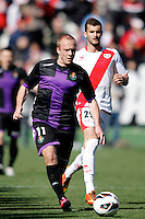 Rayo Vallecano's Baptistao and Real Valladolid's Larsson during La Liga  match. February 24,2013.(ALTERPHOTOS/Alconada)