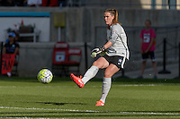 Bridgeview, IL - Sunday June 12, 2016: Alyssa Naeher during a regular season National Women's Soccer League (NWSL) match between the Chicago Red Stars and the Portland Thorns at FC Toyota Park.
