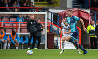 Danny Rowe of Wycombe Wanderers run forward during the pre season friendly match between Aldershot Town and Wycombe Wanderers at the EBB Stadium, Aldershot, England on 22 July 2017. Photo by Andy Rowland.