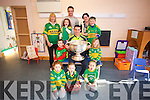 Kerry Star Shane Enright  with the Sam Maguire cup arrived at The Wishing Tree Preschool, Tarbert  on Tuesday