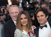 Salma Hayek, Francois-Henri Pinault &amp; Gael Garcia Bernal at the 70th Anniversary Gala for the Festival de Cannes, Cannes, France. 23 May 2017<br /> Picture: Paul Smith/Featureflash/SilverHub 0208 004 5359 sales@silverhubmedia.com