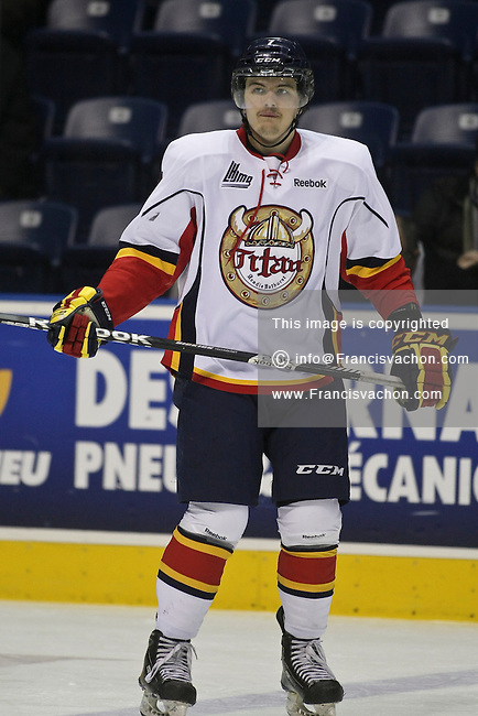 QMJHL (LHJMQ) hockey profile photo on Acadie-Bathurst Titan Myles McGurty November 21, 2012 at the Colisee Pepsi in Quebec city.
