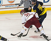 Julius Mattila (BC - 26), Hampus Gustafsson (Merrimack - 20) - The visiting Merrimack College Warriors defeated the Boston College Eagles 6 - 3 (EN) on Friday, February 10, 2017, at Kelley Rink in Conte Forum in Chestnut Hill, Massachusetts.