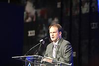 NFL Sprecher Brian McCarthy<br /> Entertainment Pressekonferenzen, Super Bowl XLIV Pressekonferenzen *** Local Caption *** Foto ist honorarpflichtig! zzgl. gesetzl. MwSt. Auf Anfrage in hoeherer Qualitaet/Aufloesung. Belegexemplar an: Marc Schueler, Alte Weinstrasse 1, 61352 Bad Homburg, Tel. +49 (0) 151 11 65 49 88, www.gameday-mediaservices.de. Email: marc.schueler@gameday-mediaservices.de, Bankverbindung: Volksbank Bergstrasse, Kto.: 52137306, BLZ: 50890000
