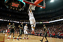 February 23, 2014: Terran Petteway (5) of the Nebraska Cornhuskers with an alley-oop dunk against the Purdue Boilermakers during the second half at the Pinnacle Bank Arena, Lincoln, NE. Nebraska 76 Purdue 57.