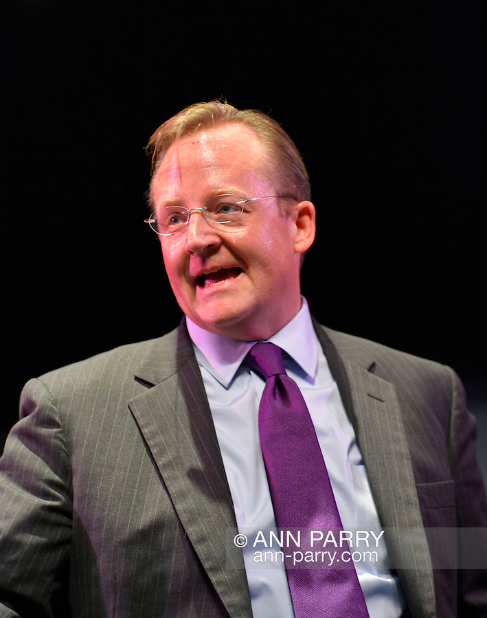 """Oct. 11, 2012 - Hempstead, New York, U.S. - ROBERT GIBBS, former White House Press Secretary and a longtime Advisor to Pres. Obama, participated in a Point/Counterpoint discussion at Hofstra University Debate 2012 event. This was part of """"Debate 2012 Pride Politics and Policy"""" a series of events leading up to when Hofstra hosts the 2nd Presidential Debate between Obama and M. Romney, on October 16, 2012, in a Town Meeting format."""