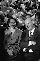 Montreal (Qc) CANADA File Photo -  Oct 24 1995 - Jean Chretien (R) and wife Aline L) at a NON assembly during the 1995 Referendum in Quebec.<br /> <br /> (NON meant a vote agains Quebec sepearation from Canada)