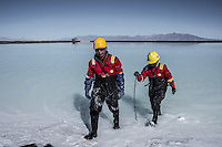 Lithium mining at Uyuni salt pit by Dany Krom