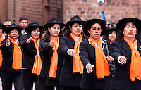 Cusco, Peru. 25 July 2014. People take part in the parade for the 193rd Independence's anniversary of Peru.  Photo by Juan Gabriel Lopera/VIEWpress.