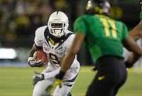 October 6th, 2011:  C.J. Anderson of California runs for some yardage during a game against Oregon at Autzen Stadium in Eugene, Oregon - Oregon defeated Cal 43 - 15