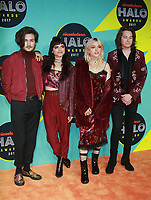 NEW YORK, NY - NOVEMBER 4: Rena Lovelis, Nia Lovelis, Casey Moreta and Iain Shipp of Hey Vi at the 2017 Nickelodeon Halo Awards at Pier 36 in New York City on November 4, 2017. Credit: RW/MediaPunch /NortePhoto.com