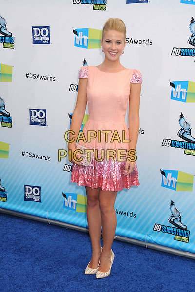 Caroline Sunshine.The 2012 Do Something Awards at the Barker Hangar in Santa Monica, California, USA..August 19th, 2012.full length pink sleeveless dress sequins sequined clutch bag.CAP/ADM/BP.©Byron Purvis/AdMedia/Capital Pictures.
