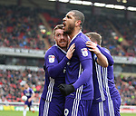 John Fleck of Sheffield Utd celebrates his goal during the championship match at the Oakwell Stadium, Barnsley. Picture date 7th April 2018. Picture credit should read: Simon Bellis/Sportimage