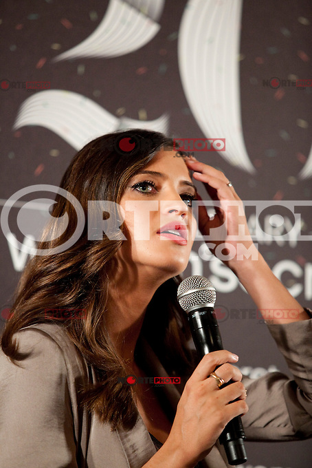 Sports journalist and Iker Casillas girlfriend Sara Carbonero during the Women´secret 20th aniversary press conference in Villamagna Castle, Madrid. September 11, 2013. (ALTERPHOTOS/Victor Blanco) /nortephoto.com