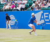 June 14th 2017, Nottingham, England; ATP Aegon Nottingham Open Tennis Tournament day 5;  Backhand from Marc Polmans of Australia