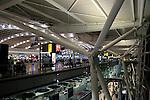 Modern architecture of Terminal Five, Heathrow airport, London, England, UK