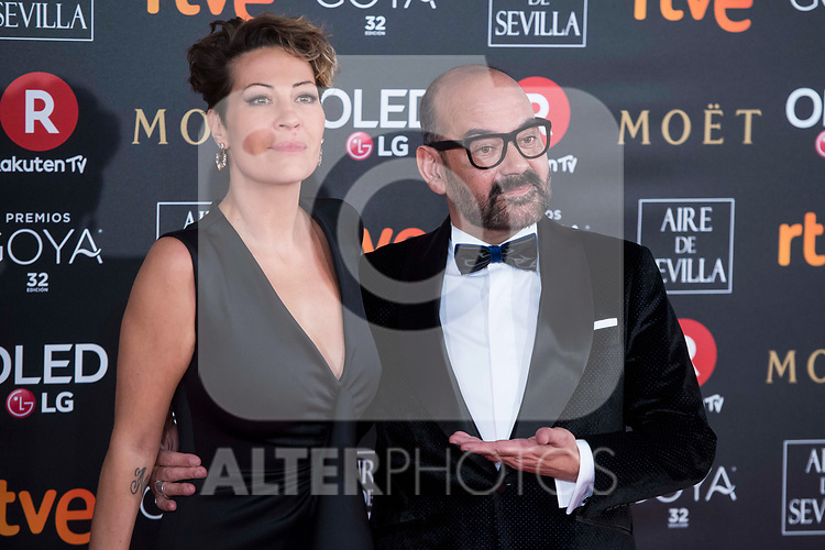Ana Barrachina and Jose Corbacho attends red carpet of Goya Cinema Awards 2018 at Madrid Marriott Auditorium in Madrid , Spain. February 03, 2018. (ALTERPHOTOS/Borja B.Hojas)
