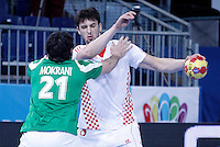 Algeria's Mohamed Aski Mokrani (l) and Croatia's Marko Kopljar during 23rd Men's Handball World Championship preliminary round match.January 14,2013. (ALTERPHOTOS/Acero) 7NortePhoto
