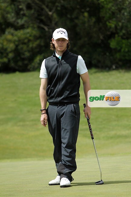 Kristoffer Broberg (SWE) during Round 1 of the NH Collection Open at the La Reserva de Sotogrande Club de Golf in Cadiz Spain on Thursday 3rd April 2014<br /> Picture:  Thos Caffrey / www.golffile.ie