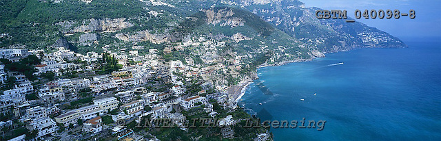 Tom Mackie, LANDSCAPES, panoramic, photos, View overe Positano, Amalfi Coast, Campania, Italy, GBTM040098-8,#L#