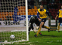 20/12/03          Copyright Pic : James Stewart.File Name : stewart08-stjohn_v_qos.JAMES THOMSON KNOCKS THE BALL PAST HIS OWN KEEPER INTO THE NET ....... .Payment should be made to :-.James Stewart Photo Agency, 19 Carronlea Drive, Falkirk. FK2 8DN      Vat Reg No. 607 6932 25.Office     : +44 (0)1324 570906     .Mobile  : +44 (0)7721 416997.Fax         :  +44 (0)1324 570906.E-mail  :  jim@jspa.co.uk.If you require further information then contact Jim Stewart on any of the numbers above.........
