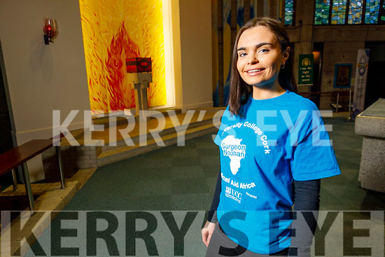 Christine O'Sullivan from Mounthawk Tralee who is a 4th year student in UCC and is raising funds called T4T €2 for Tanzania in St Brendan's Church on Saturday evening.