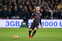 Jack Wilshere of Arsenal during the Premier League match between West Ham United and Arsenal at the Olympic Park, London, England on 13 December 2017. Photo by Andy Rowland.