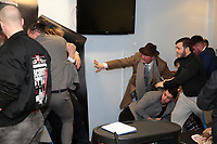 Things kick off at the 5 Star Wrestling press conference at the DSA Sheffield Arena, Sheffield, United Kingdom, 8th January 2018. Photo by Glenn Ashley.