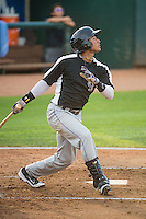 Jonathan Piron (2) of the Grand Junction Rockies at bat against the Ogden Raptors in Pioneer League action at Lindquist Field on July 6, 2015 in Ogden, Utah. Ogden defeated Grand Junction 8-7. (Stephen Smith/Four Seam Images)