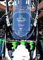 May 17, 2015; Commerce, GA, USA; NHRA top fuel driver Brittany Force during the Southern Nationals at Atlanta Dragway. Mandatory Credit: Mark J. Rebilas-USA TODAY Sports