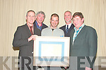 PRESENTATION: Damian Foxall center is presented with a picture at Fenit Boat Club on Monday night. Pictured from l-r are David Buckley (TBSC), Bob Nash, Kinsale, Damian Foxall, David Buttimer (RNLI Fenit) and Donal Browne (TBSC).   Copyright Kerry's Eye 2008