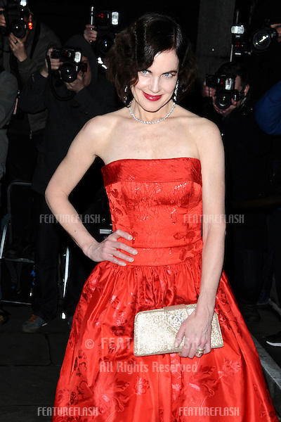Elizabeth McGovern arriving for the Evening Standard Film Awards, County Hall, London. 06/02/2012 Picture by: Steve Vas / Featureflash