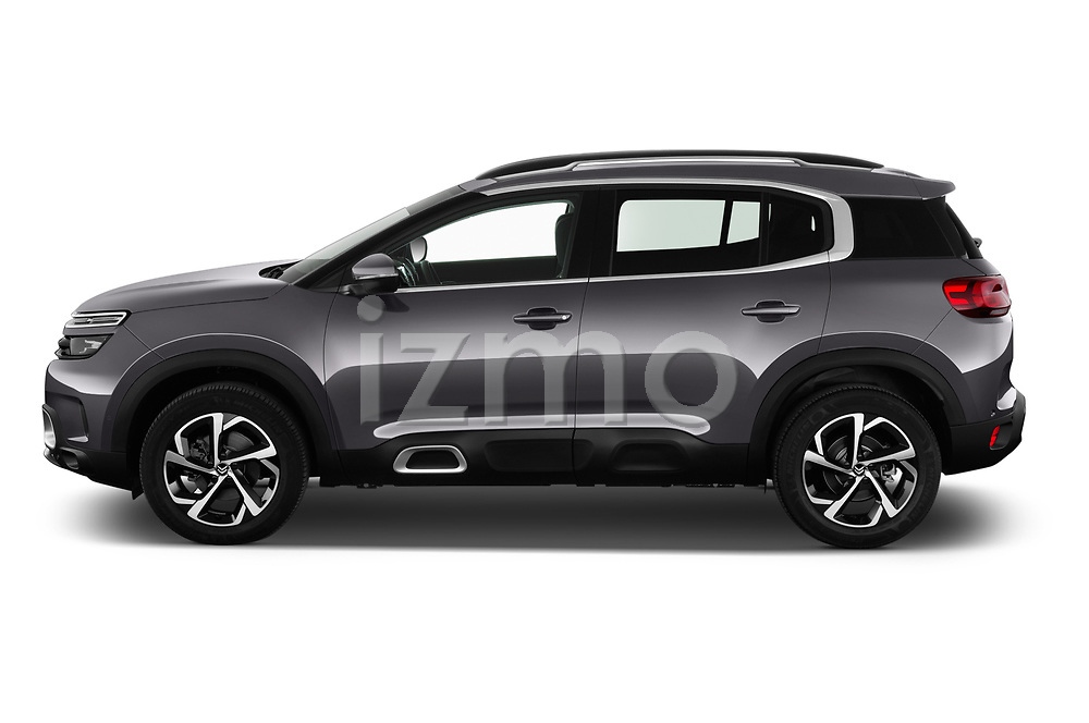 Car Driver side profile view of a 2019 Citroen C5-Aircross Shine 5 Door SUV Side View