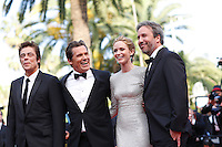 Josh Brolin, Benicio Del Toro, Emily Blunt and director Denis Villeneuve <br /> Festival del Cinema di Cannes 2015<br /> Foto Panoramic / Insidefoto