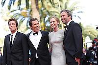 Josh Brolin, Benicio Del Toro, Emily Blunt and director Denis Villeneuve <br /> Festival del Cinema di Cannes 2015<br /> Foto Panoramic / Insidefoto