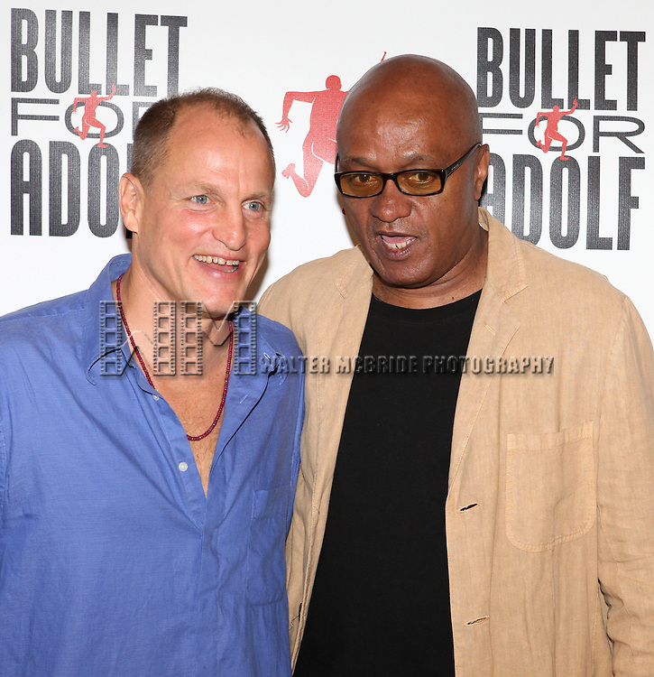 Woody Harrelson & Frankie Hyman .attending the Meet & Greet for 'Bullet For Adolf' at the Snapple Rehearsal Studios in New York City on 6/26/2012