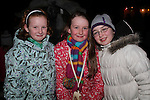 Emma Fogarty, Eimear Clare and Fiona Cosgrave at the Arrival of Santa and the turning on of the Christmas Lights in Dunleer...(Photo credit should read Jenny Matthews www.newsfile.ie)....This Picture has been sent you under the conditions enclosed by:.Newsfile Ltd..The Studio,.Millmount Abbey,.Drogheda,.Co Meath..Ireland..Tel: +353(0)41-9871240.Fax: +353(0)41-9871260.GSM: +353(0)86-2500958.email: pictures@newsfile.ie.www.newsfile.ie.