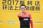 Alberto Contador (ESP) Trek-Segafredo riding his last race on the podium at the end of the 2017 Tour de France Skoda Shanghai Criterium, Shanghai, China. 29th October 2017.<br /> Picture: ASO/Pauline Ballet | Cyclefile<br /> <br /> <br /> All photos usage must carry mandatory copyright credit (&copy; Cyclefile | ASO/Pauline Ballet)