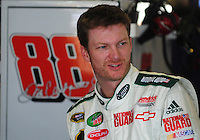 Apr 25, 2008; Talladega, AL, USA; NASCAR Sprint Cup Series driver Dale Earnhardt Jr during practice for the Aarons 499 at Talladega Superspeedway. Mandatory Credit: Mark J. Rebilas-US PRESSWIRE